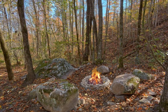 Fire Pit 1 Bedroom Honeymoon Cabin - Bare Tubbin