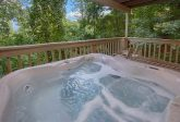 Hot Tub with Views On Back Deck Gatlinburg