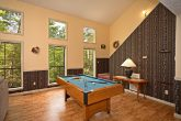 Pool Table in Living Room of Gatlinburg Chalet