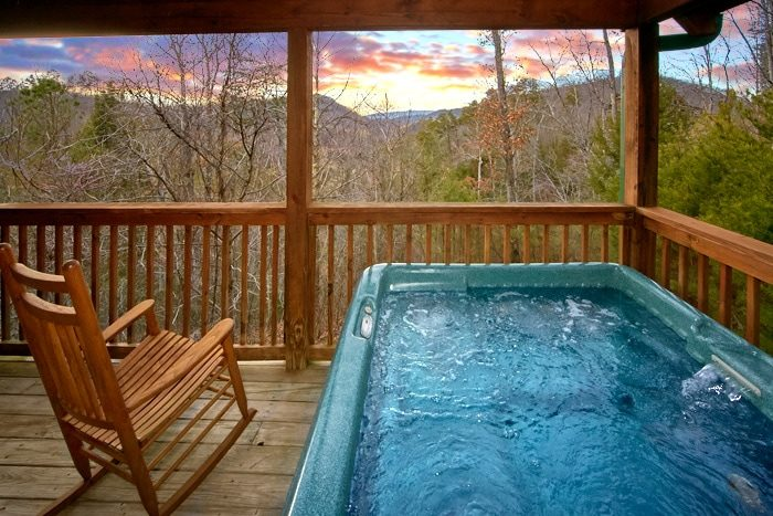 1 bedroom pigeon forge cabin bearadise for Cabin in gatlinburg with hot tub