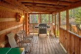 Cabin with Gas Grill on covered deck
