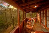 Cabin with back deck facing wooded view