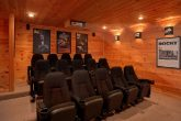15 Seat Theater Room in Premium 5 Bedroom Cabin