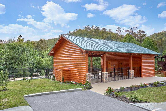 Resort cabin with PIcnic Area and Swimming Pool - Candle Light Cabin