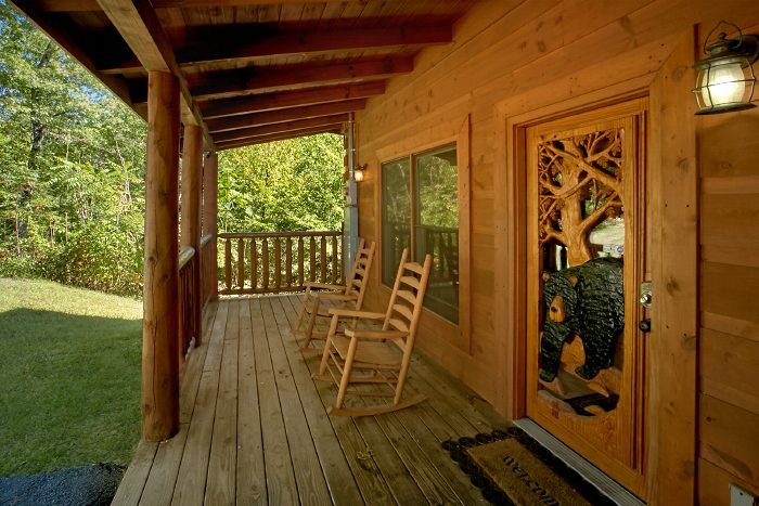 Secluded Cabin with Rocking Chairs and Hot Tub - Can't Bear To Leave