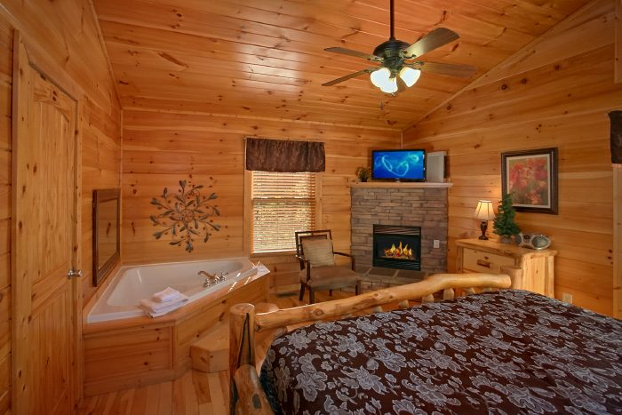 Cabin with MAster Suite, Fireplace and Jacuzzi - Can't Bear To Leave