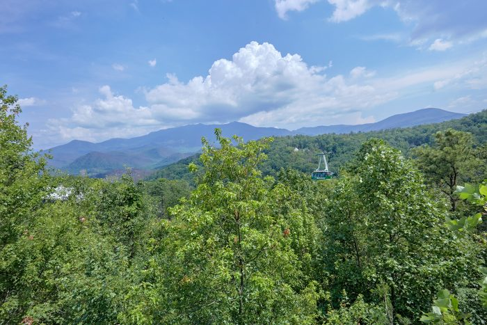 Views of Gatlinburg from 8 bedroom Chalet deck - Chalet Mignon