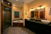 Luxury Bathroom with Jacuzzi Tub in Cabin