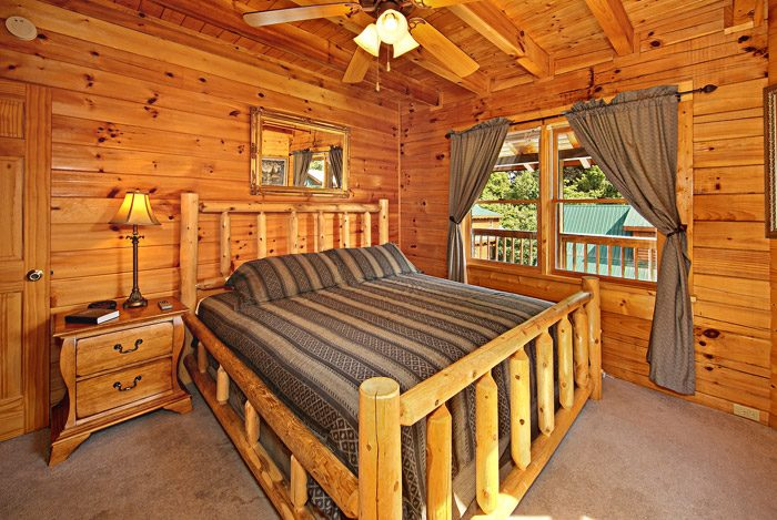 King Bedroom in Cabin - Cool Like Jazz