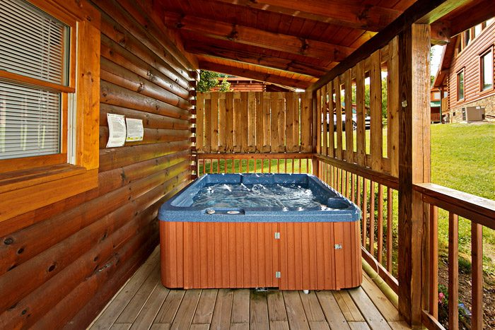 Hot Tub with Privacy Walls - Cool Like Jazz