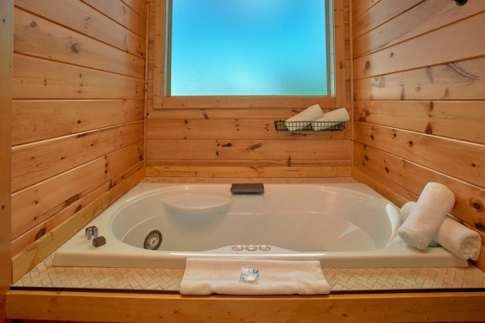 Private Jacuzzi Tub in Luxurious Master Bathroom - Copper Ridge Lodge