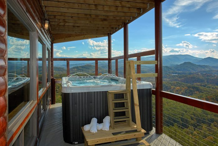 Swim Spa Hot Tub at 6 Bedroom Luxury Cabin - Copper Ridge Lodge
