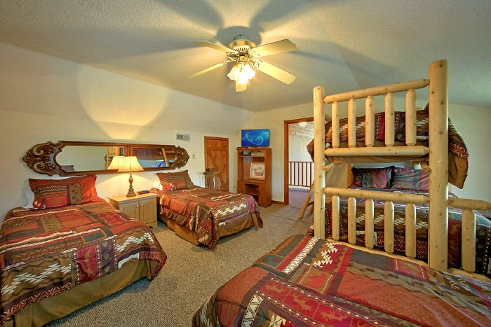 pigeon forge cabin with 6 bedrooms country oaks lodge