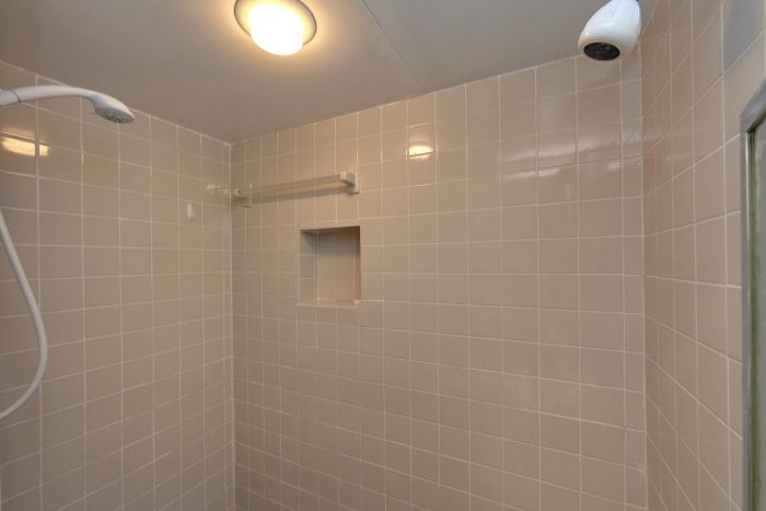 Master Bedroom with Double Shower Heads - Creekside Cottage