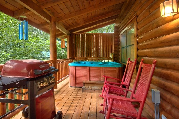 Cabin with Views of the creek in Wears Valley - Creekside Hideaway
