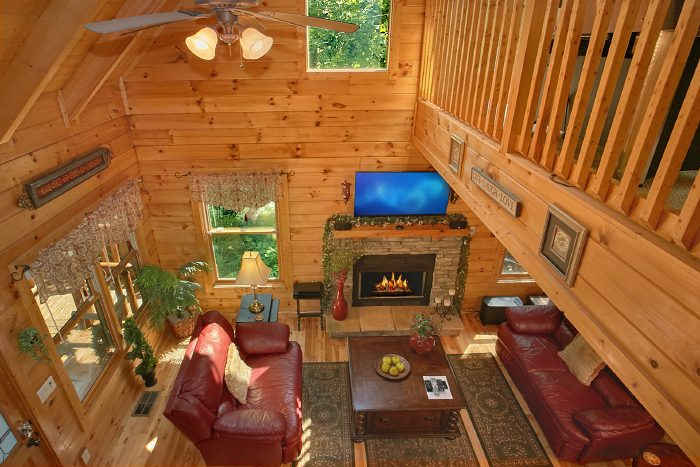 Premium 2 story, 1 Bedroom Cabin with Loft - Crimson Moon