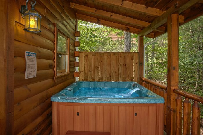 Secluded 1 Bedroom Cabin with Private Hot Tub - Crimson Moon