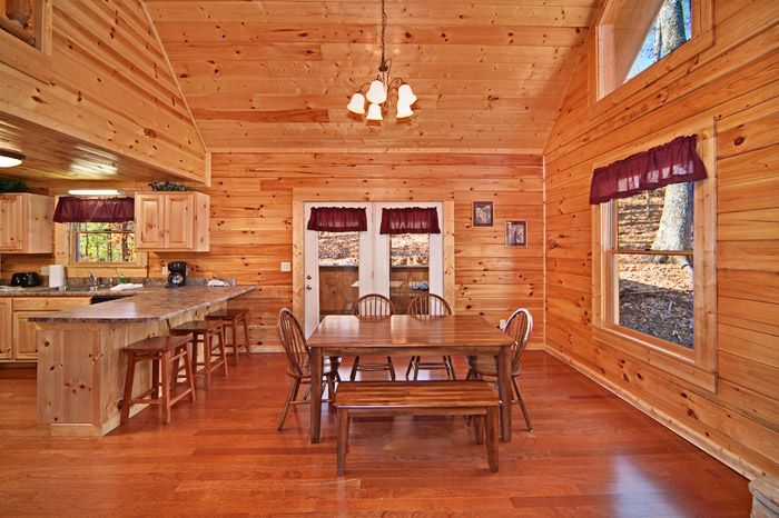 Cabin with Dining Table & Bar Seating - Cuddly Critters