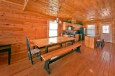 Cabin with dining table and bench seating