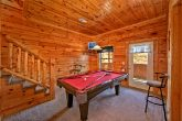 Cabin with pool table game room