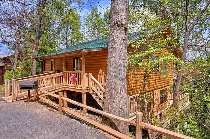 Pigeon Forge 4 Bedroom Cabin with Wooded View - Dogwood Retreat