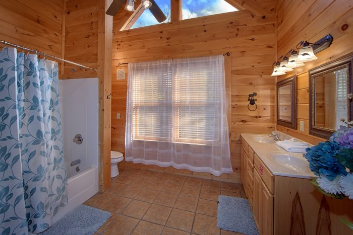 Private Master Bath in King Bedroom in Cabin - Dreamland