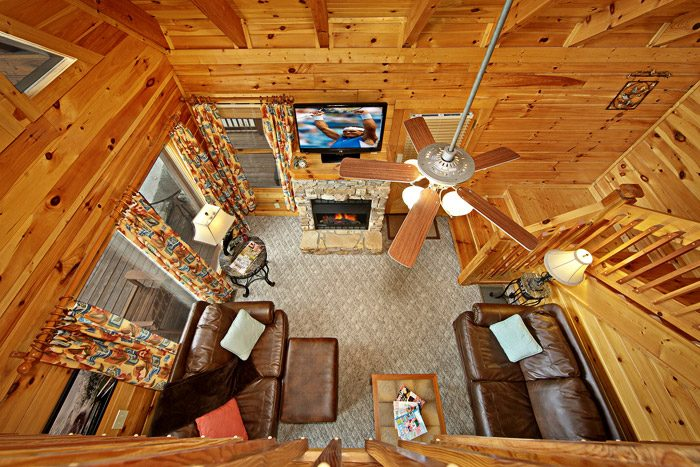 Open Floor Plan of Cabin - Duck Inn Lodge