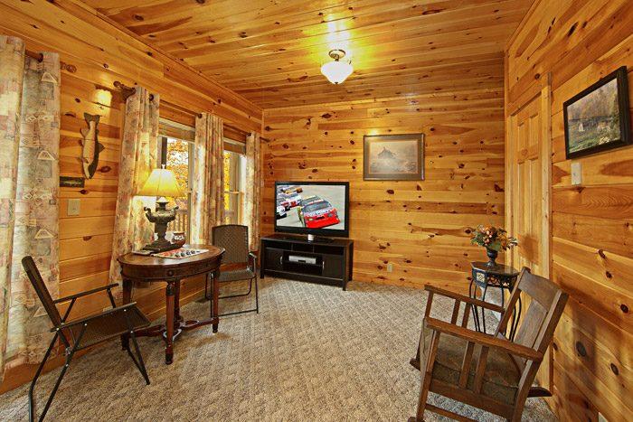 Den with TV - Duck Inn Lodge