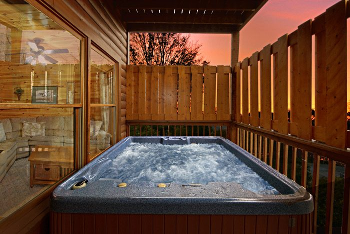 Hot Tub with Privacy Walls - Duck Inn Lodge