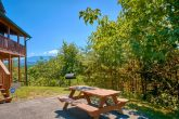 Cabin with Mountain Views and Picnic Table