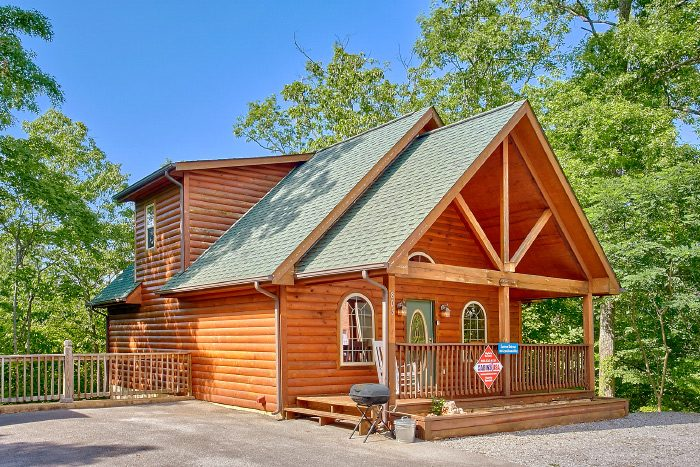 cabin specials rentals tn in smoky mountain rental cabins rocking tennessee deck a the on gatlinburg chair view of