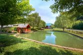 4 bedroom cabin with pond with fountain