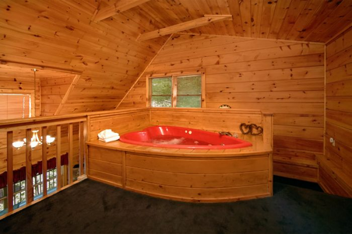 1 bedroom cabin with corner Jacuzzi tub - Enchantment