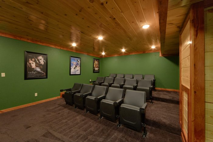 Theater Room Indoor Pool and Game Room - Family Fun Pool Lodge 1