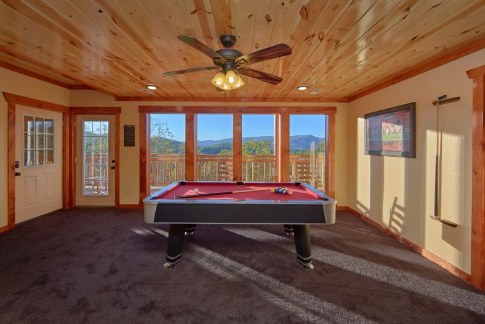 Game Room with Pool Table 6 Bedroom Cabin - Family Fun Pool Lodge 2