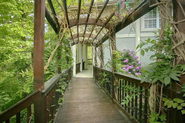 Gatlinburg Cabin with Covered Walkway and Gazebo - Gatlinburg Movie Mansion