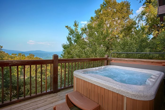 Views of the Smoky Mountains from Cabin Deck - Gatlinburg Splash