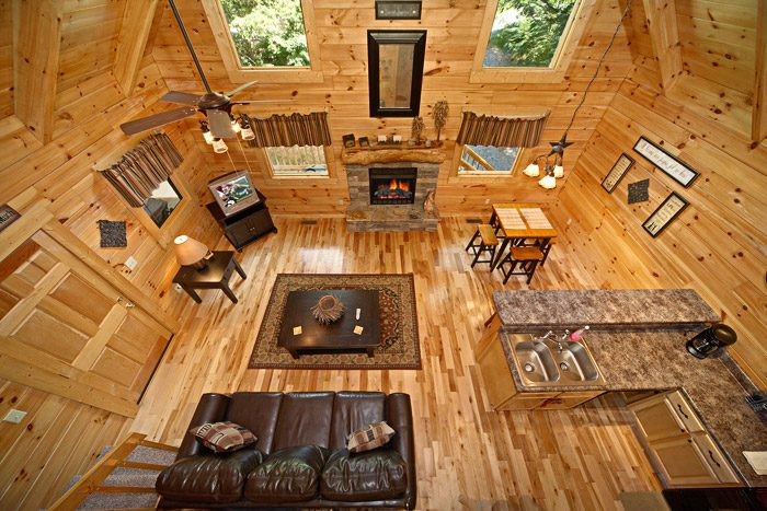 View of Cabin from Lofted Game Room - Get-n-Lucky