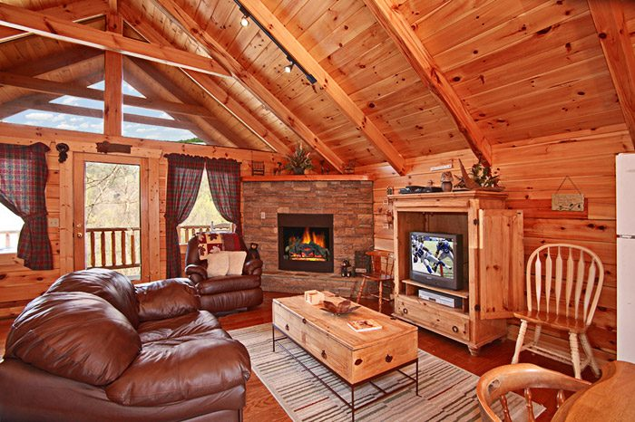Smoky Mountian Cabin Rental with Living Room - Hanky Panky