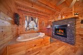 Romantic Heart Shaped Jacuzzi with Fireplace