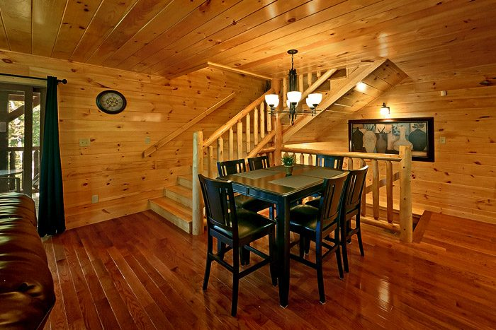 Cabin with Dining Table - Hickory Splash