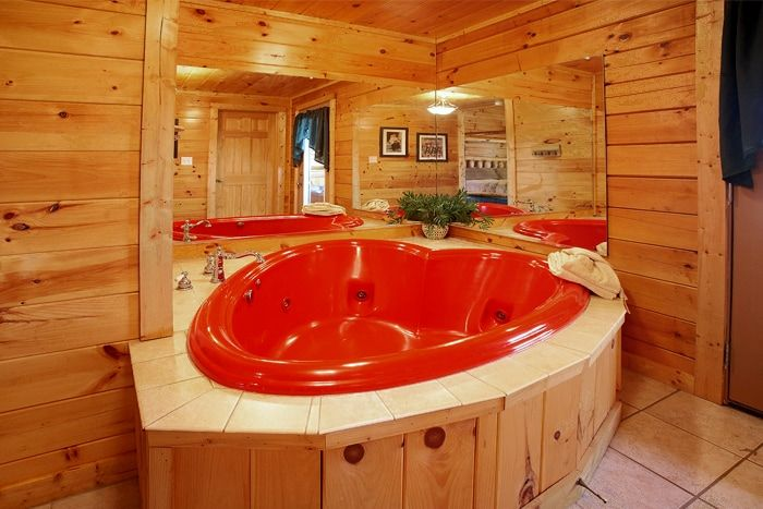 hot in vacation wifi views cozy pin with cabin tub gatlinburg mountain rental sevierville