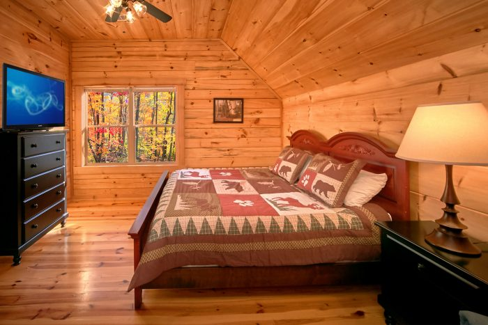 Spacious 3 Bedroom cabin rental with 3 baths - Hillside Haven