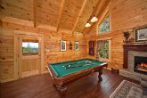 Gatlinburg Cabin with Pool Table in Living Room