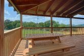 3 Bedroom Cabin with Picnic Table on deck