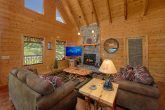 Wears valley cabin with stone fireplace