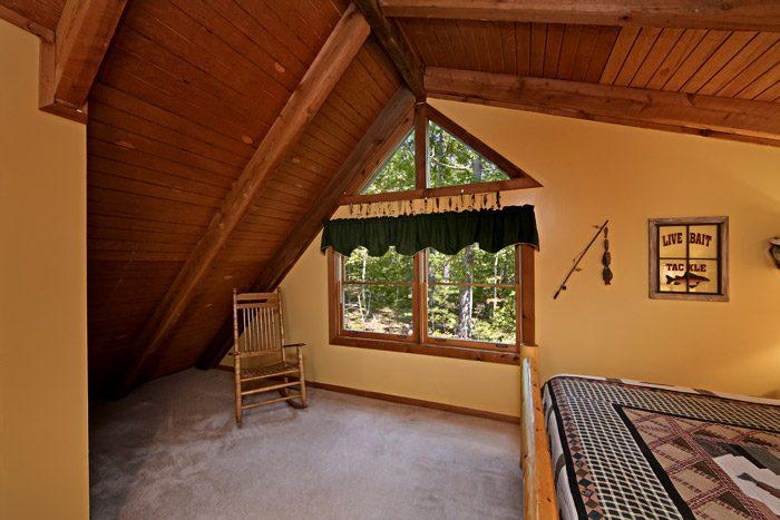 Cabin with Child Rocking Chair - Honeysuckle Cottage