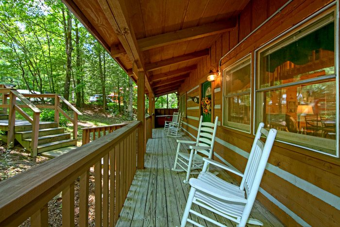 Cabin with Deck Seating - Honeysuckle Cottage