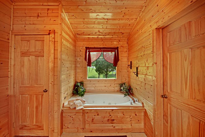 Jacuzzi Tub in Two Bedroom Cabin - Horsin Around