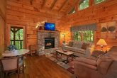 Living Room with Fireplace in the Smokies